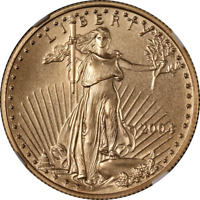 2004 GOLD AMERICAN EAGLE $25 NGC MS70