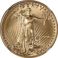 2006 GOLD AMERICAN EAGLE $25 NGC MS70