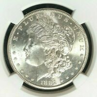 1881-S MORGAN SILVER DOLLAR - NGC MINT STATE 64 BEAUTIFUL COIN REF69-003