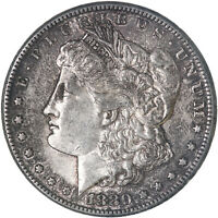 1880 S MORGAN SILVER DOLLAR ABOUT UNCIRCULATED AU SEE PICS F567