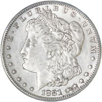 1881 S MORGAN SILVER DOLLAR ABOUT UNCIRCULATED AU SEE PICS F573