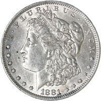 1881 O MORGAN SILVER DOLLAR ABOUT UNCIRCULATED AU SEE PICS F578