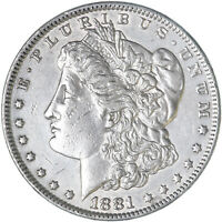 1881 O MORGAN SILVER DOLLAR ABOUT UNCIRCULATED AU SEE PICS F579
