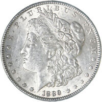 1889 MORGAN SILVER DOLLAR ABOUT UNCIRCULATED AU SEE PICS F610