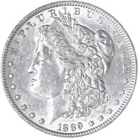 1889 MORGAN SILVER DOLLAR ABOUT UNCIRCULATED AU SEE PICS F609