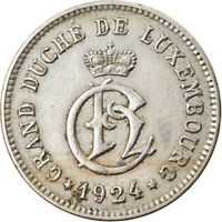 [742935] MNZE, LUXEMBURG, CHARLOTTE, 10 CENTIMES, 1924, SS, COPPER-NICKEL