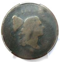 1795 LIBERTY CAP FLOWING HAIR HALF CENT 1/2C COIN - CERTIFIED PCGS AG DETAIL