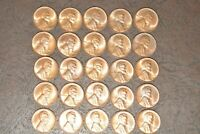 1940-D LINCOLN CENT BU ROLL- 50 COINS MOST ALL R/B