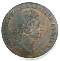 1723 ROSA AMERICANA TWOPENCE 2PENCE COIN 2P - NGC UNCIRCULATED DETAILS NCS