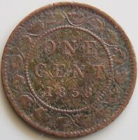 1858 CANADA CANADIAN LARGE 1 CENT VICTORIA COIN   FILLER