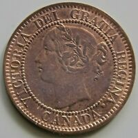 1859 CANADA CANADIAN LARGE 1 CENT VICTORIA COIN PC59 49