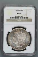 TOP 30 1878 S VAM 16 NGC MS 64 MORGAN SILVER DOLLAR SHIPS FREE