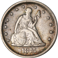 1875 S TWENTY  20  CENT PIECE GREAT DEALS FROM THE EXECUTIVE COIN COMPANY