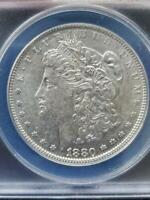 COOL VARIETY  RARITY 6  1880 O VAM 13A DOUBLED 80 CLASHED OBVERSE & REVERSE