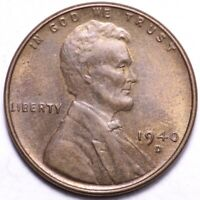 1940-D LINCOLN WHEAT CENT PENNY CHOICE BU SHIPS FREE E906 T