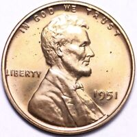 1951 LINCOLN WHEAT CENT PENNY GEM PROOF RED SHIPS FREE E909 TEM