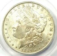 1886-O MORGAN SILVER DOLLAR $1 COIN - CERTIFIED ANACS AU50 - LOOKS R