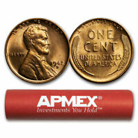 1942-D LINCOLN CENT 50-COIN ROLL BU - SKU9276