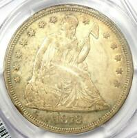 1872 SEATED LIBERTY SILVER DOLLAR $1 COIN - CERTIFIED PCGS AU53 -