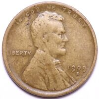 1909-S LINCOLN WHEAT CENT PENNY CHOICE FINE SHIPS FREE E510 RLM
