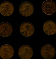 LOT OF 9 NINE 1921 LINCOLN PENNY CENT