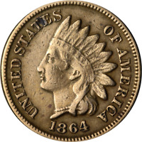 1864CN INDIAN CENT GREAT DEALS FROM THE EXECUTIVE COIN COMPANY