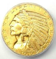 1912 INDIAN GOLD HALF EAGLE $5 COIN - CERTIFIED ICG MINT STATE 62 BU UNC -  COIN