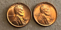 1947D&S  LINCOLN CENTS. 2 COINS  UNCIRCULATED.