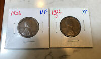 1926P&D LINCOLN CENTS.  2 COINS