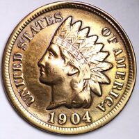 XF DETAIL 1904 INDIAN HEAD CENT PENNY