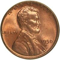 1950 D LINCOLN WHEAT CENT BU PENNY US COIN