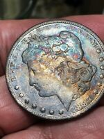 1897-P MORGAN SILVER DOLLAR ENCAPSULATED TONED COA NCM  IMG-4118