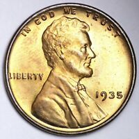 1935 LINCOLN WHEAT SMALL CENT CHOICE BU RED SHIPS FREE E161 TB