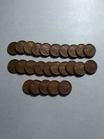 1/2- ROLL -25-1935-S LINCOLN WHEAT CENT-PENNEY CIRCULATED-GOOD CONDITION