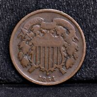 1864 TWO CENT PIECE - LARGE MOTTO - GOOD 35228
