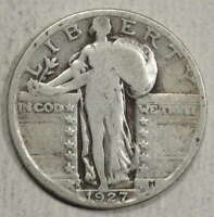 1927-S STANDING LIBERTY QUARTER, KEY DATE, JUST ABOUT GOOD  0125-09