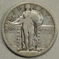1918-S STANDING LIBERTY QUARTER,  GOOD TO FINE    0125-06