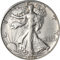 1938-D WALKING LIBERTY HALF GREAT DEALS FROM THE EXECUTIVE COIN COMPANY