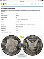 1885 CC $1 PCGS MINT STATE 62 DMPL 3523 MORGAN SILVER DOLLAR GOLD SHIELD OVER THE TOP