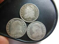 3 OLD BUST DIMES 1821 1829 AND 1835 1821 HAS SCRATCHES