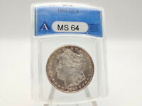 1883-CC ANACS MINT STATE 64 MORGAN SILVER DOLLAR GREAT EYE APPEAL 1466750