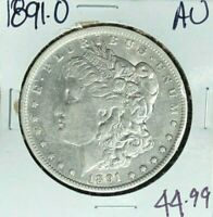 1891-O MORGAN SILVER DOLLAR  AU  COIN