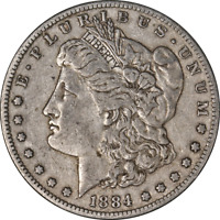 1884-S MORGAN SILVER DOLLAR LY CIRCULATED - GREAT SET BUILDER - STOCK
