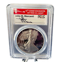 1986 S 1986 S AMERICAN SILVER EAGLE PR70DCAM 1 OF 500 MERCAN