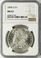 1898-O $1 MORGAN DOLLAR NGC MINT STATE 63