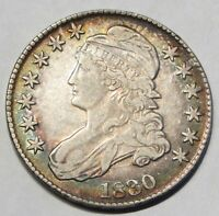 1830 50C CAPPED BUST SILVER HALF  022030