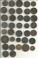 37 COLONIAL ERA BRITISH COINS OF THE 16TH 17TH AND 18TH CENT