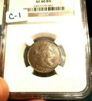 1806 DRAPED BUST 1/2 HALF CENT NGC CERTIFIED EXTREMELY FINE