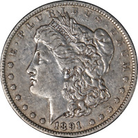 1891-O MORGAN SILVER DOLLAR LY CIRCULATED - GREAT SET BUILDER - STOCK