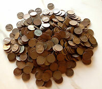 10 ROLL COLLECTION: 500 LINCOLN WHEAT CENT COINS MIXED MINT